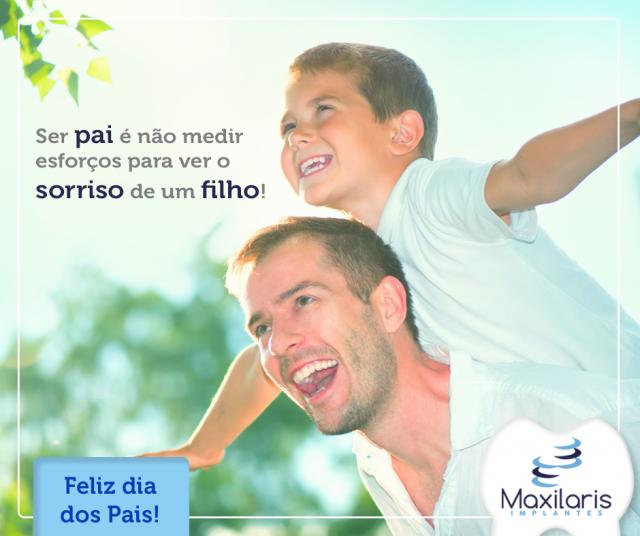 Ser pai é não medir esforços para ver o sorriso de um filho!