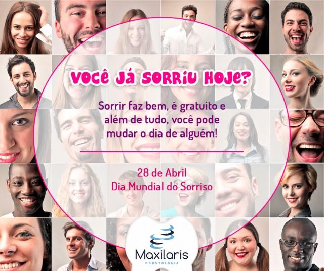 Você já sorriu hoje? Dia 08 de Abril Dia Mundial do Sorriso